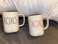 Rae Dunn By Magenta Artisan Collection (XOXO)  Mug's *Free USPS Shipping*