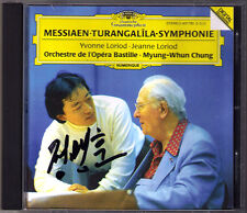 Myung-Whun Chung SIGNED Messiaen Turangalila-SINFONIA CD Yvonne & Jeanne Loriod