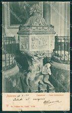 Palermo città cattedrale fonte battesimale postcard cartolina KF3446