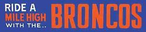 Denver Broncos  Vintage Style 1950's  Travel Decal Sticker
