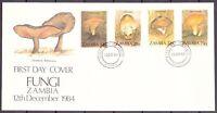 Sambia MiNr. 325-28 Ersttagsbriefe/ FDC Pilze (Pi5052