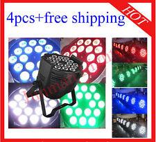 4pcs 18*10W RGBW 4 in 1 Led Par Light Led DJ Stage Par64 Lighting Free Shipping