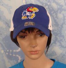 FORTY SEVEN blue w white mesh back Kansas Jayhawks logo Cap,O/S stretch fit