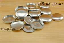 100 sets of cover buttons 7/8 inch (22mm) Size 36 Self cover buttons Wire back