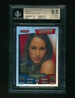 2011 Topps WWE Slam Attax Rumble Brie Bella Champion Foil BGS 9.5