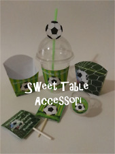 set festa compleanno party set sweet table compleanno calcio pallone 50 pezzi