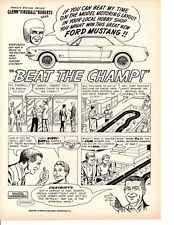 1964 MODEL MOTORING SET / FIREBALL ROBERTS ~ ORIGINAL AURORA PRINT AD