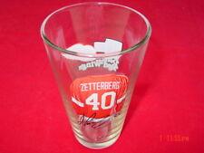 Older Detroit Red Wings Beer Glass Zetterberg # 40 Michigan Hockey Team Player