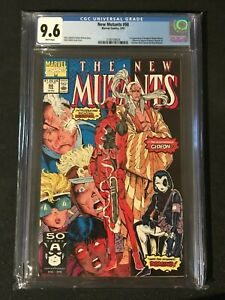 New Mutants # 98 CGC 9.6 White Pages 1st Appearance of Deadpool 1991