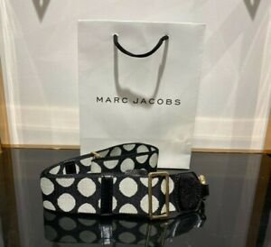 Webbing Strap Black & White polca dot for Marc Jacobs Snapshot small camera bag