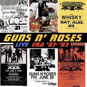 GUNS N ROSES Live Era 87-93 BANNER HUGE 4X4 Ft Fabric Poster Tapestry Flag art