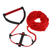 Double Handle Water Skiing Wakeboard Tow Harness Rope 1 Section 75ft Red