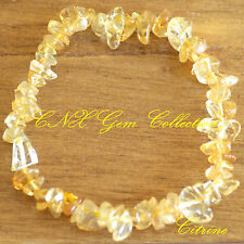 Gemstone Crystal Citrine ChipStone Bracelet Birthstone Gemini Virgo Jun Aug Sep