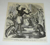 1877 magazine engraving ~ SERPENTS AND SERPENT-CHARMERS