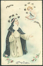 postal antigua de Santa Rosa de Lima andactsbild santino holy card santini