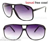 80s VINTAGE Retro Oversize Square Aviator Sunglasses UV