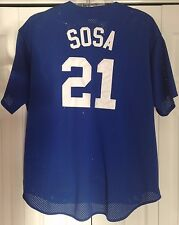 SAMMY SOSA chicago cubs mesh jersey MAJESTIC XXL men's SEWN stitched patch 2XL