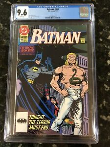 Batman 469 CGC 9.6 1991 Direct Market Edition Chuck Dixon Tom Lyle King Snake