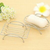 1pcs Soap Dishes Silver Shower Soap Plate Holder for Bathroom Stainless Steel