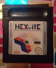Vintage 1999 HEXCITE: THE SHAPES OF VICTORY Nintendo GameBoy Color Game Cart GBC