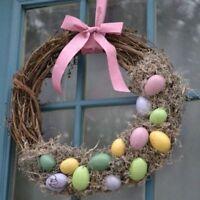 Easter Natural Branches Rattan Wreath DIY Wall Door Hanging Pendant Decoration