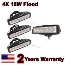 "4X 6"" inch 18W Flood LED Work  Fog Light Bar Truck Boat Driving Offroad SUV 4WD"