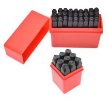 36PCS 4mm Stamps Punch Set Case Steel Die Tool Letters Alphabet And Number