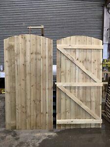 180cm x 90cm Arched Top Feather Edge Garden Gate (SECOND)