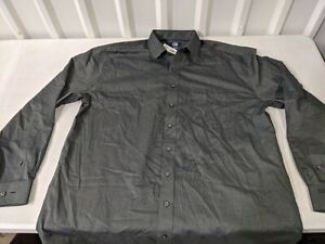 Cutter & Buck Long Sleeve Button Down Shirt New with Tags XLT Easy Care Black