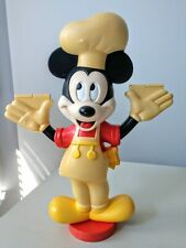Vintage Mickey Mouse w/Chef hat, Hard Plastic 11 Inches Tall Collectible