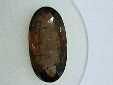 Axinite 3.75 TCW Oval Faceted Honey-Brown Natural Gemstone