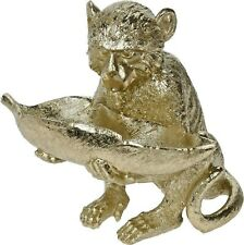 Sweet Bowl Ornamental Keys Coin Table Dish Decorative Gold Monkey Holding Leaf