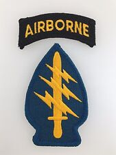 America U.S. Army Vietnam War Special Forces cloth sleeve patch w. Airborne tab