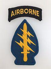 America U.S. Army Vietnam War Special Forces cloth sleeve patch w. Airborne tab