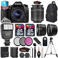 Canon EOS 80D DSLR Camera + 18-55mm IS + Flash + 32GB + EXT BATT + 1yr Warranty