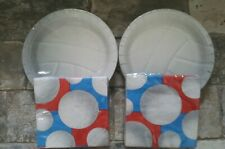 Volleyball Party Supplies cake plates and napkins service for 16