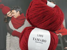 1 kg TAMARO chunki knit ROT Fb. 0060 Merino Lang Yarns Lana UVP 149,50 € häkeln