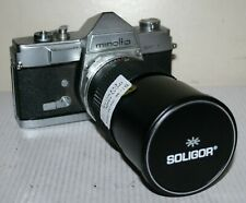 Minolta SR-1 - SLR Film Camera Body & Soligor Zoom Lens - Spare Or Repair