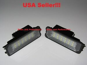 6000K WHITE LED LICENSE PLATE LIGHTS for 2003 - 2008 VOLKSWAGEN GOLF / GTI
