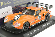 FLY E29 MARCOS LM600 LIMITED EDITION NEW 1/32 SLOT CAR IN DISPLAY CASE