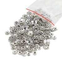 45g (about 150pcs) Mixed Tibetan Silver Bead Caps Spacer For Jewelry making DIY