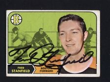 1968 Topps #10 Fred Standfield Signed Auto Autographed Card Bruins JC LOA *28639