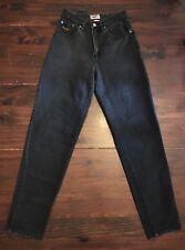 PEPE JEANS LONDON Black Denim Jeans Vintage High Waist Sz 27 Retro 90's 25x30