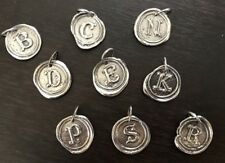 Waxing Poetic Sterling Silver Round Insignia Charm - NOS