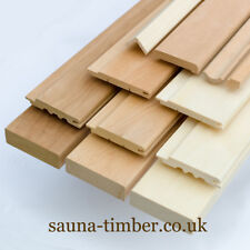 Alder Hardwood Panelling Sauna Wood Timber Cladding Spa Steamroom Lining