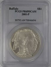 2001-P Buffalo Commemorative S$1 PCGS PR 69 DCAM