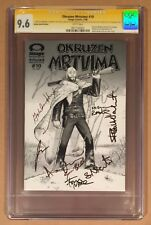 THE WALKING DEAD #10 CGC SS • CAST SIGNED BY (11) CAST • SERBIAN B&W VARIANT