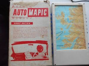 VINTAGE CLASSIC CAR AUTO-MAPIC UK ROAD MAP 1950S-60S BEFORE SAT NAV