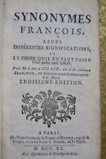 Synonymes françois, leurs significations et le choix 1740