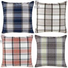 Polyester Checked Decorative Cushions